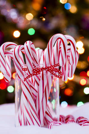 peppermint candy: Peppermint candy canes on white background.
