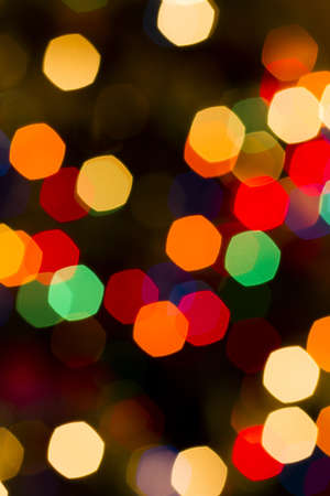Defocus of Christmas lights.