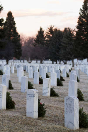 christmas in denver: 2012 Christmas Honors at the Fort Logan National Cemetery, Denver. Editorial