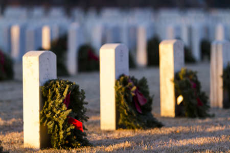 fort logan national cemetery: 2012 Christmas Honors at the Fort Logan National Cemetery, Denver. Editorial