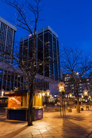 christmas in denver: 16th Street Mall in Denver during the Christmas season. Editorial