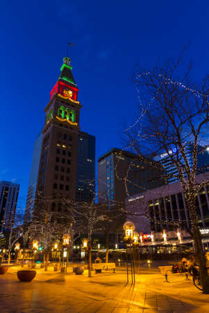 frederick street: 16th Street Mall in Denver during the Christmas season. Editorial