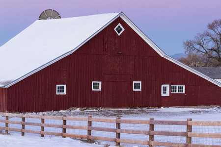 old red barn: Old Red Barn at the 17mile House Farm Park, Colorado.