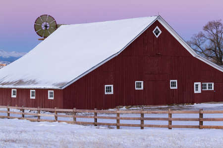 Old Red Barn at the 17mile House Farm Park, Colorado.