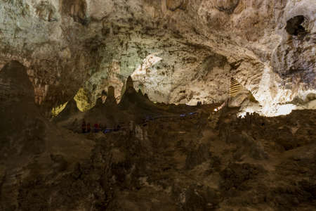 Limestones formations of Guadeloupe Mountains' Carlsbad Caverns. Stok Fotoğraf