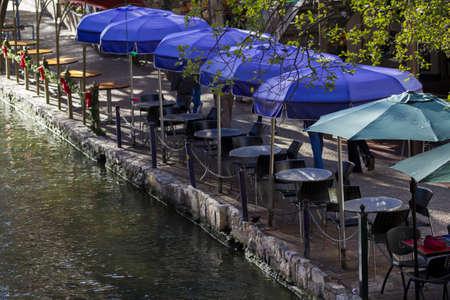 distanation: Famous Riverwalk in San Antonio, TX. Editorial