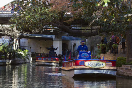 Riverwalk famoso en San Antonio, TX.