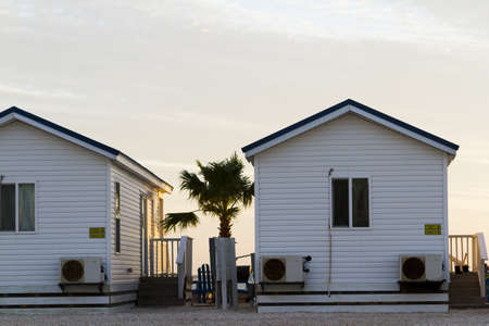 cameron county: Rental beach cabins on South Padre Island, TX. Editorial