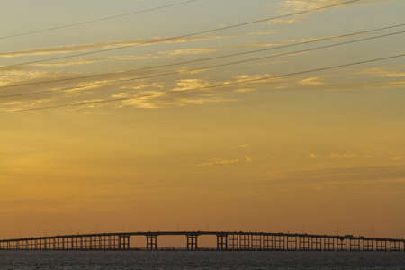 queen isabella: Sunset at South Padre Island, TX. Stock Photo