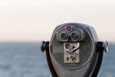 cameron county: A coin operated view finder in tourist location. Stock Photo