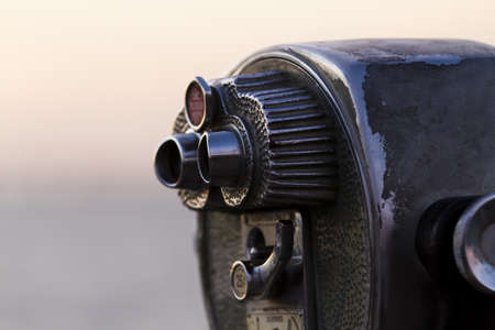 operated: A coin operated view finder in tourist location. Stock Photo