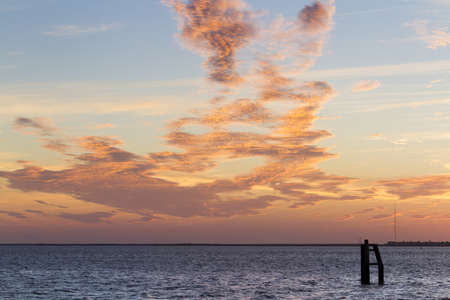 cameron county: Sunset at South Padre Island, TX. Stock Photo