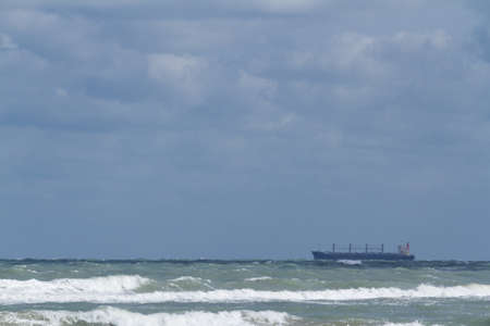 Ocean drilling near South Padre Island, TX. photo