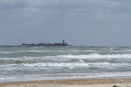 cameron county: Ocean drilling near South Padre Island, TX. Stock Photo