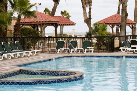 Empty swimming pool of the resort. Stock Photo - 17179634