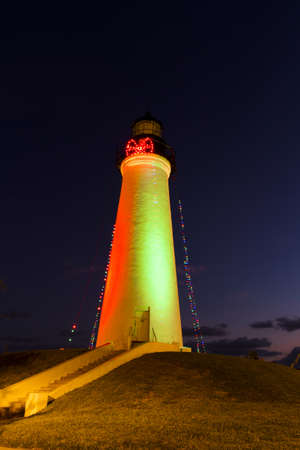 Port Isabel Lighthouse near South Parde Island, TX. Stock Photo - 17179219