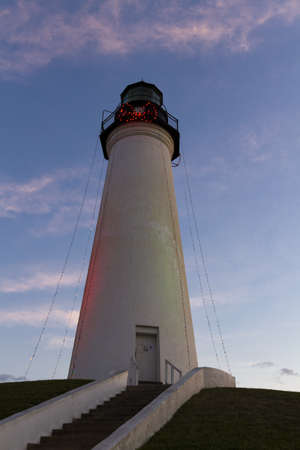 inland waterways: Port Isabel Lighthouse near South Parde Island, TX. Stock Photo