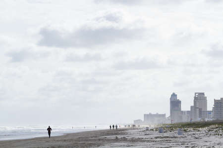 fine particles: Beach of South Padre Island, TX.