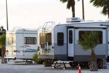 cameron county: Motorhome campground on South Padre Island, TX.