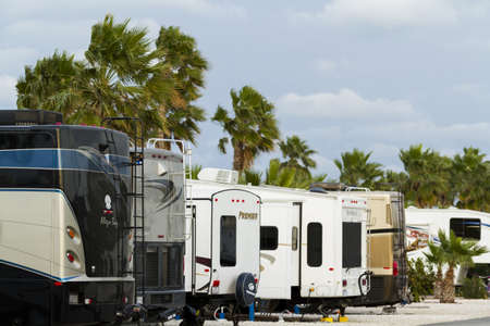south padre island: Motorhome campground on South Padre Island, TX.