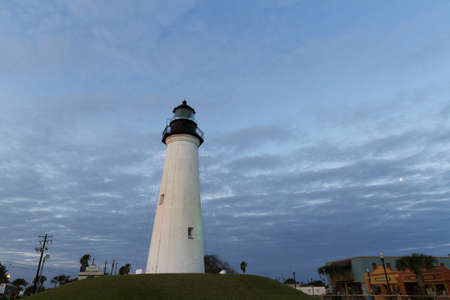 cameron county: Port Isabel Lighthouse near South Parde Island, TX. Editorial