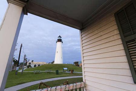Port Isabel Lighthouse near South Parde Island, TX. Stock Photo - 17175301
