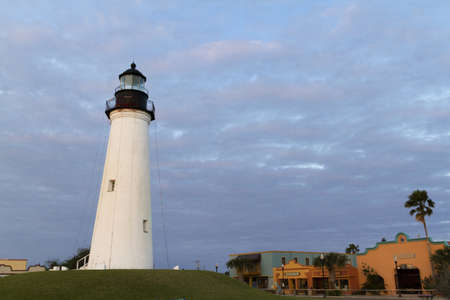 Port Isabel Lighthouse near South Parde Island, TX. Stock Photo - 17175299