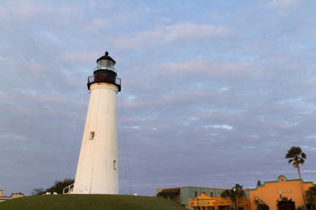 port isabel: Port Isabel Lighthouse near South Parde Island, TX. Editorial