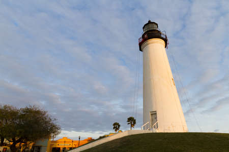 Port Isabel Lighthouse near South Parde Island, TX. Stock Photo - 17175311