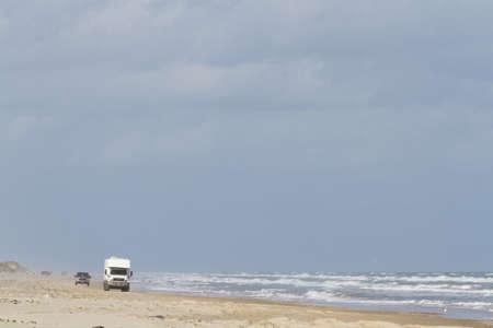 4 wheel: Manejar en la playa de South Padre Island, TX.