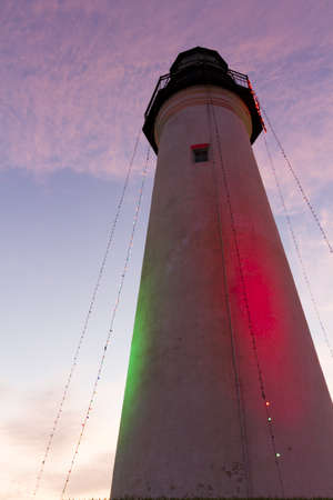 cameron county: Port Isabel Lighthouse near South Parde Island, TX. Stock Photo