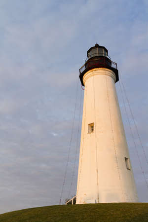 isabel: Port Isabel Lighthouse near South Parde Island, TX. Stock Photo