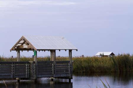 Bird blind on South Padre Island, TX. Stock Photo - 17198632
