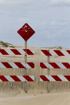 distanation: End of the road on South Padre Island, TX.