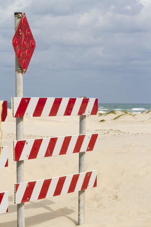 End of the road on South Padre Island, TX. Stock Photo - 17198400