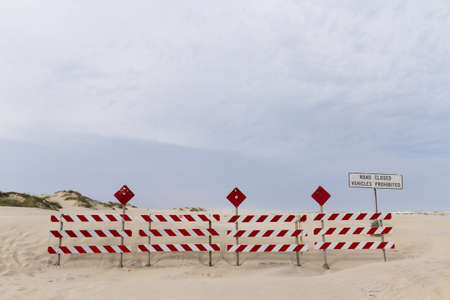 cameron county: End of the road on South Padre Island, TX.
