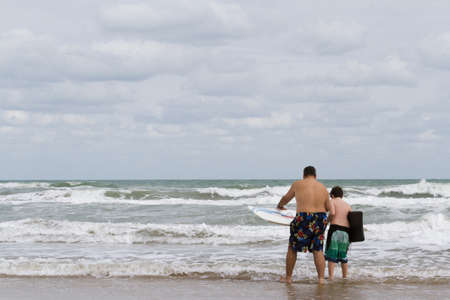 Boogie boarding on South Padre Island, TX. photo