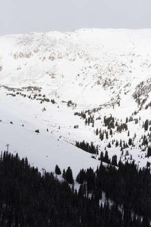 eisenhower: Mountain picks coveres with snow.