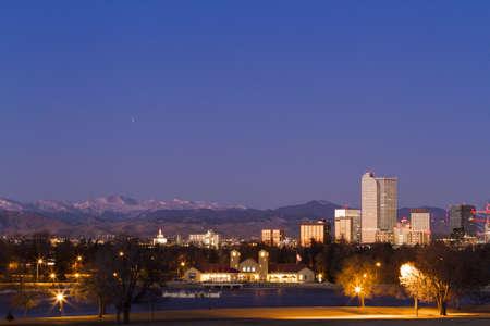 Denver skyline at sunrise in the winter. Stock Photo - 17406740