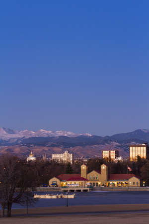 Denver skyline at sunrise in the winter. Stock Photo - 17406730