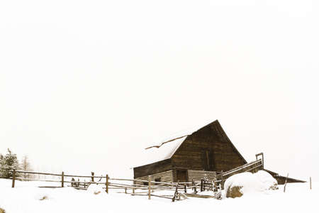 steamboat: Old barn located in the base village in the town of Steamboat Springs Colorado