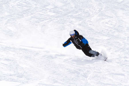 Skiing at Howelsen Hill in Steamboat Springs, Colorado. Editorial