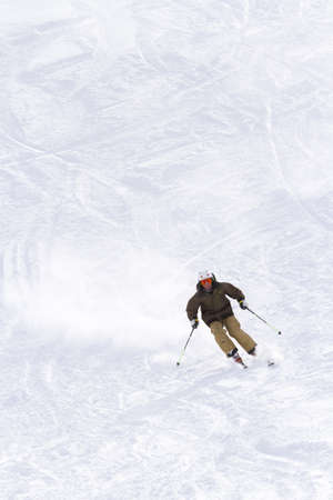 western slope: Skiing at Howelsen Hill in Steamboat Springs, Colorado. Editorial