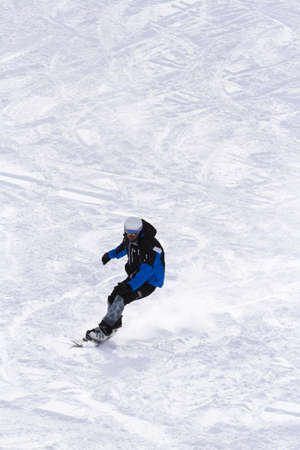 Skiing at Howelsen Hill in Steamboat Springs, Colorado.