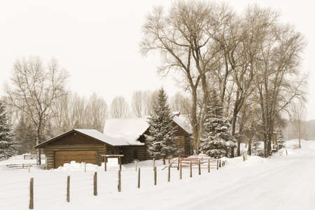 Winter farm in Steamboat Springs, Colorado. Stock Photo - 17713126