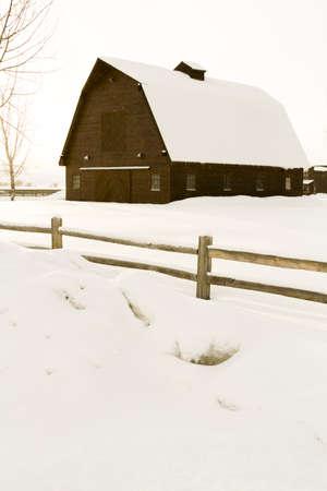 steamboat: Winter farm in Steamboat Springs, Colorado