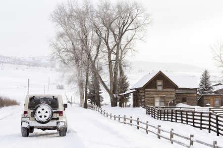 4 wheel: Granja invierno en Steamboat Springs, Colorado