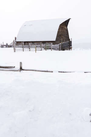 Historic barn in the middle of the winter. Stock Photo - 17712954