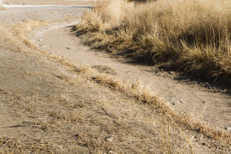 granula: Drainage ditch without water. Stock Photo