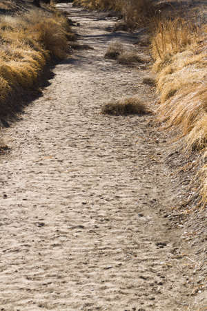 fine particles: Drainage ditch without water. Stock Photo